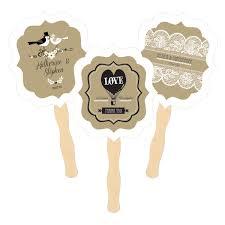 personalized fans paddle fans vintage wedding