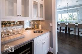 kitchen bar cabinets small bar with under cabinet wine glass rack transitional kitchen