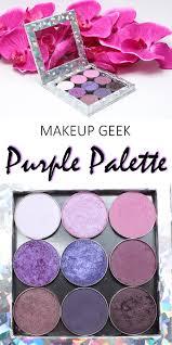 shades of purples makeup geek purple palette swatches on fair skin