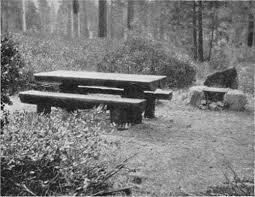 round cement picnic tables national park service park structures and facilities seats and tables