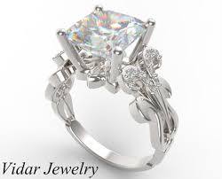 unique designer engagement rings princess cut engagement ring in white gold vidar jewelry