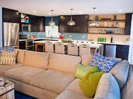 kitchen amusing soft open plan kitchen living room small space