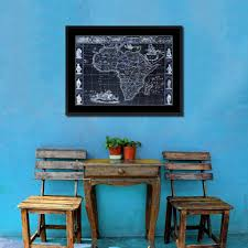Vintage Home Interior Products Africa Vintage Vivid Color Map Home Decor Wall Art Bedroom