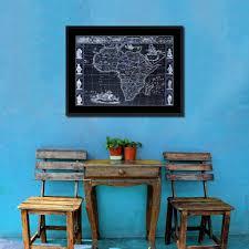 africa vintage vivid color map home decor wall art bedroom