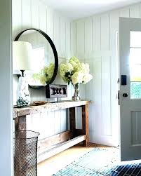 entrance table and mirror entryway table l gold and gray foyer with faux anthracite console
