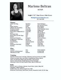 acting resume template for microsoft word free acting resume