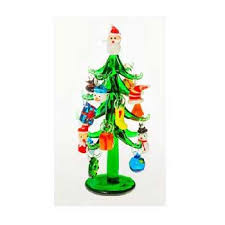 glass tree with ornaments