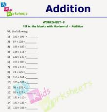 worksheets for class 1 class 1 horizontal addition worksheet allkidsworksheets