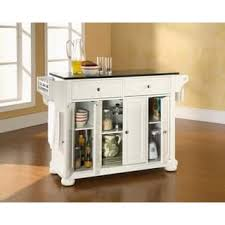 white kitchen island with black granite top stationary kitchen islands for less overstock