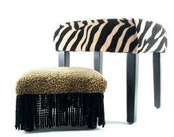 stool cheetah print ottoman animal folding storage footrest