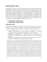 psychometric test personality type test assessment