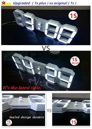 Home Decor Wall Clock Dhl Diy Beautiful Large Led Digital Wall Clock Modern Design Home