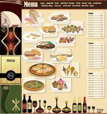 menu templates free download
