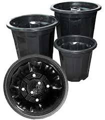 black plastic plant pots 16 qt 10 pack planet natural