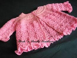 crochet baby sweater pattern hook n needle creations crocheted baby cardigan