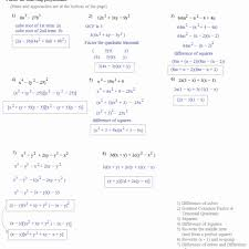 factoring polynomials worksheet with answers worksheet resume