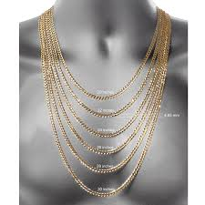 gold metal chain necklace images Made in italy 18k gold over silver 30 inch solid singapore chain