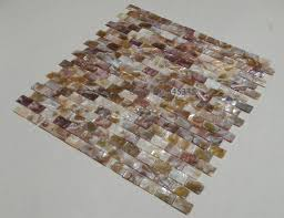 tuile cuisine naturel coloré brique tuile coque de la mosaïque mère de perle