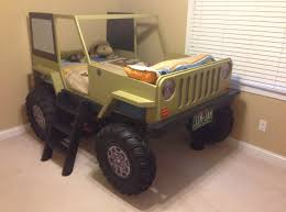 bedroom creative jeep car bed design for kids with short black