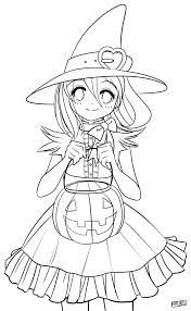 color me halloween chan by dapatches on deviantart digi