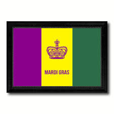 new orleans mardis gras flag home decor office wall art livingroom