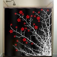 Black Bathroom Curtains Best Black Flower Shower Curtain Products On Wanelo