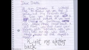 funny letters to santa claus kids letters hilarious christmas