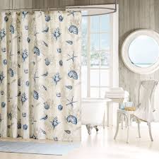 Tropical Beach Shower Curtains by Seashells Shower Curtain Beach Theme Cotton Beach Themes