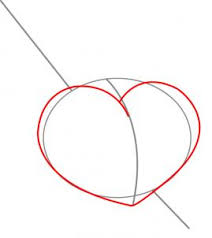 how to draw a heart with a sword