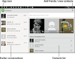 hangouts app android how to use the hangouts app on your android tablet dummies