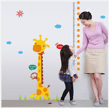 online get cheap wall sticker height chart aliexpress com e5 2017 diy wall sticker muraux adesivo de parede kids height chart wall sticker home decor