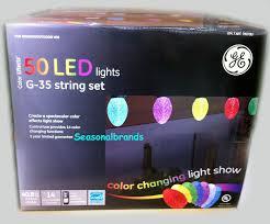 ge color effects led color changing christmas lights 25 led lights g35 string set true for