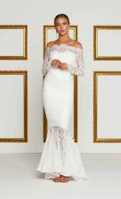 mermaid wedding dresses with sleeves off the shoulder hmtins