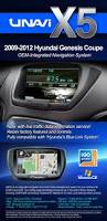 integrated navigation system for hyundai genesis coupe 2009 2012