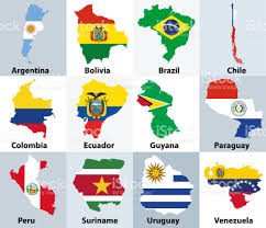 Countries Of The World Flags Maps Mixed With Flags Of The Independent Countries Of South