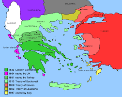 Greece Turkey Map by Expansion Of Modern Greece U2022 Mapsof Net