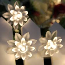 Fairy Lights Indoor by 20 Led Usb Powered Double Lotus Flower Fairy Lights 3 5m For
