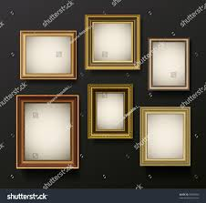Picture Frame On Wall by Picture Frame Vector On Wall Vintage Stock Vector 95695060