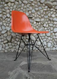 orange eiffel base side chair by charles u0026 ray eames for herman