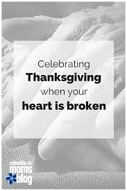 celebrating thanksgiving when your is broken