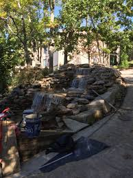 water feature u0026 stone fireplace in huntsville alabama durable