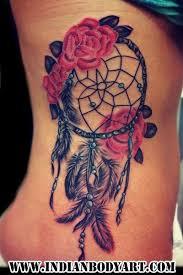 splendid rose dreamcatcher watercolor tattoo on rib atrapasueños