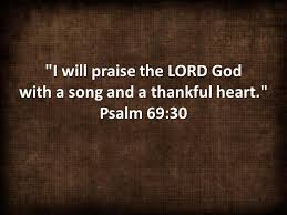the power of praise and thanksgiving with all my i will