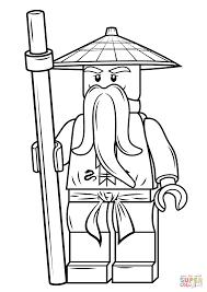 lego ninjago sensei wu coloring page free printable coloring pages