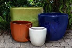 Glazed Ceramic Pots Outdoor Garden Pottery Pottery Retail Bigearthsupply
