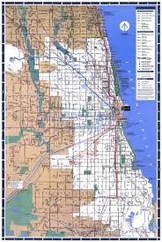 Map Chicago Chicago L System Map Chicago Il U2022 Mappery