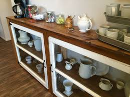 Kitchen Buffet Furniture Remodelaholic How To Build A Buffet From Old Windows And