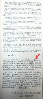 Décrets De 1950 Retour Vers Le Passé 1950 ée Charnière En Indochine