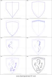 how to draw ferrari logo printable step by step drawing sheet
