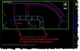 use align space to easily align a viewport view autocad tips